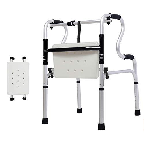 Walking Frame Walker Gehhilfe Gehhilfe Gepolsterter Sitz Mobilität Gesundheit Klapprollator Höhenverstellbar für Senioren, Behinderte, Senioren Max 180kg Zusammenklappbarer tragbarer Rollator auf Rä
