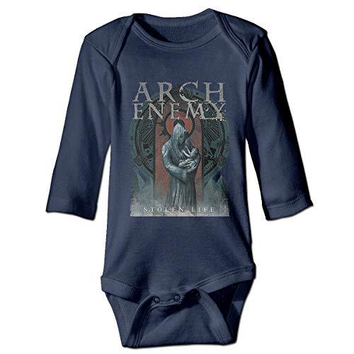 WoodWorths Arch-Enemy War Nouveau-né Fille Garçons Enfants Barboteuse Bébé à Manches Longues Enfant en Bas âge(18M,Marine)