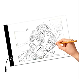 A4 LED Copy Board Light Box, Art Craft Tracing Light Table for Tattoo, Sketch, Architecture, Calligraphy, Crafts