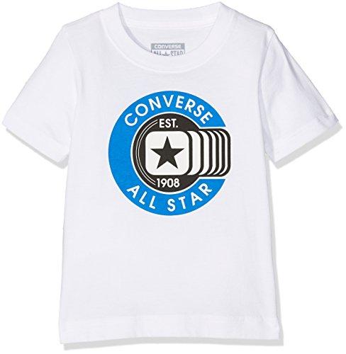 Converse Jungen Classic All Star Tee Jogginganzug, Weiß (White 001), 12-13 Jahre