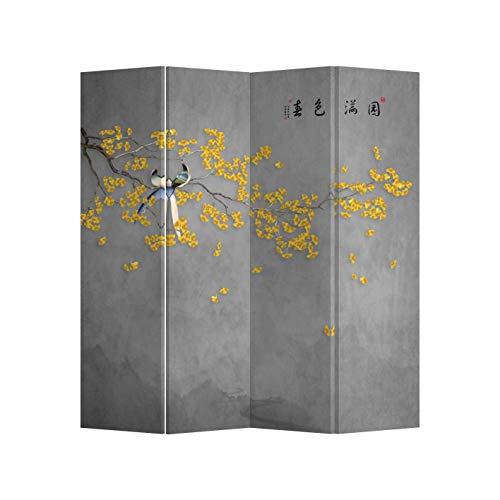 Fine Asianliving Paravent Raumteiler Trennwand Spanische Wand Raumtrenner Sichtschutz Japanisch Orientalisch Chinesisch L160xH180cm Bedruckte Canvas Leinwand Doppelseitig Asiatisch -203-196