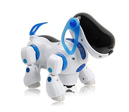 Toysntrendz Childrens i-Robot Puppy Dog, Flashing Light & Sound Robot Dog- Walks, Runs, Barks, Bump 'n' Go