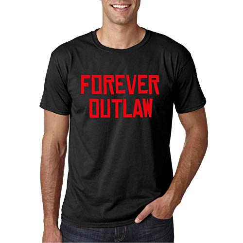 Forever Outlaw Redemption - Camiseta Manga Corta (Negro, L)