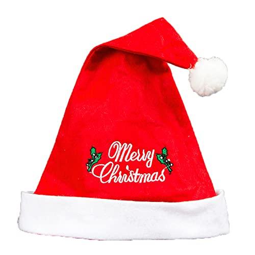 Gorros De Navidad para Adultos - Paquete De 3 Gorras De Feliz Navidad Bordadas No Tejidas, Decoración Navideña, Vestidos De Fiesta, Regalos De Año Nuevo, 40 Cm * 30 Cm, como Se Muestra, 40 Cm * 3