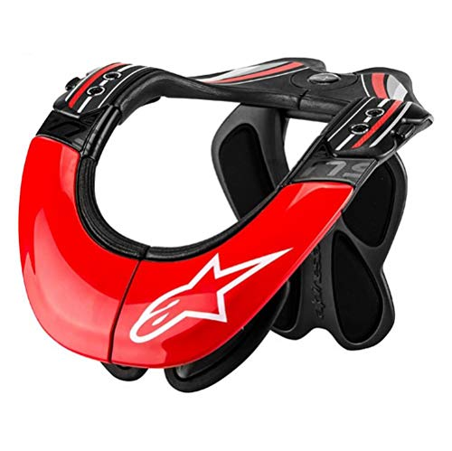 Alpinestars BNS Tech Carbon Adult Neck Brace Motocross Motorcycle Body Armor - Red/White/X-Small/Medium
