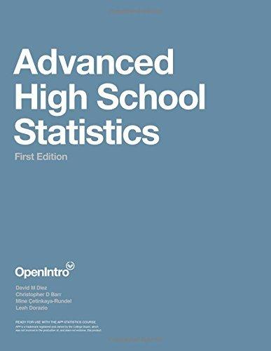 Advanced High School Statistics by David M Diez (10-May-2015) Paperback