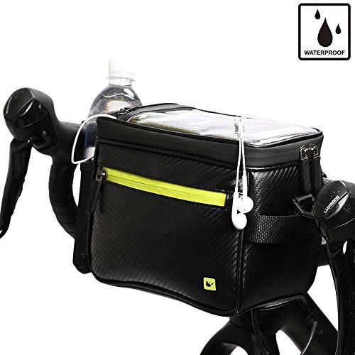 Rhinowalk Bike Handlebar Bag, Bike Front Bag Road Bike Bag Bike Frame Bag Bike Basket Bag Bicycle Bag Professional Cycling Accessories
