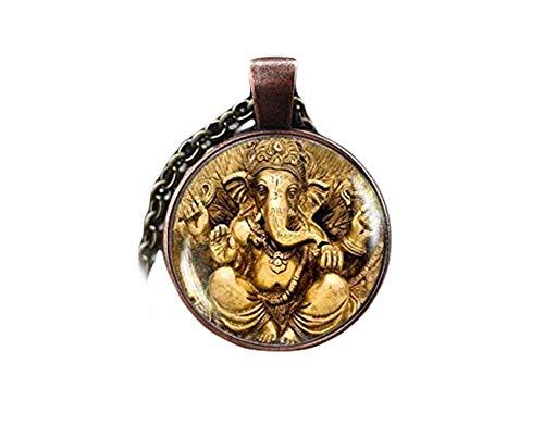 Ganesha Halskette, Ganesha Anhänger, indischer Gott Schmuck, indischer Hinduismus religiöser Schmuck, Lord Ganesha Anhänger, ein schönes Geschenk.