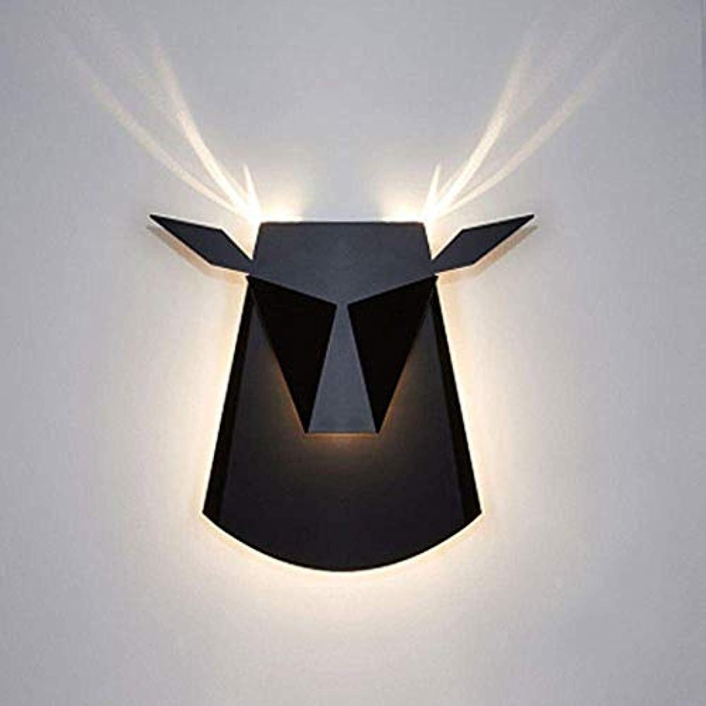 BAIJJ Niutou dekorative Wandleuchte einfache Retro LED Nordic kreative postmoderne Nachttischlampe Bar Gang Wandleuchte, senden Freunde Geschenke (Farbe  A)