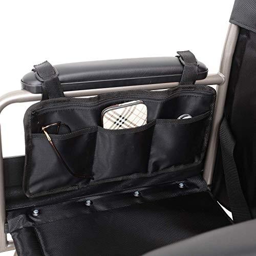 Sichere Aufbewahrungstasche für Rollstühle Tasche, Mobilitätshilfe für Rollstühle Ältere Personen Hände frei Armlehne Hängegriff Halter Aufbewahrungstasche für Rollstühle
