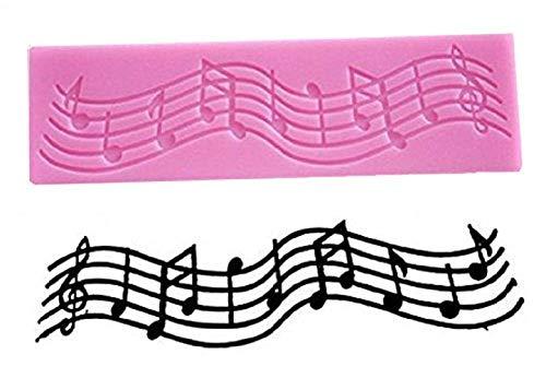 Siliconen mal voor het gebruik van muzieknoten - suikerpasta - fondants - cakes - pannenkoeken - muffins - decoraties