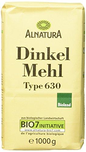 Alnatura Bio Dinkelmehl, Type 630, 6er Pack (6 x 1 kg)