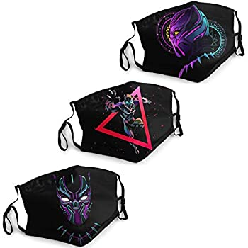 Black Panther Face Mask Washable Men s Women s Adjustable for Outdoor sports or cosplay