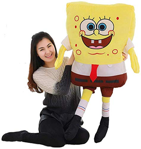 XQYPYL Spongebob Plüsch Spielzeug Weiches Kissen Puppe Kinder Mädchen Geschenk Hauptdekor 40cm-150cm,Gelb,40cm