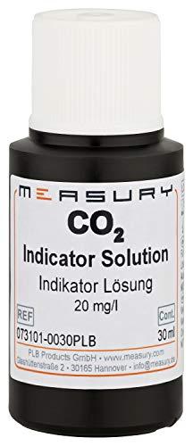 Measury CO2 Dauertest Indikator Flüssigkeit 20 mg/l, Made in Germany Testflüssigkeit 30 ml