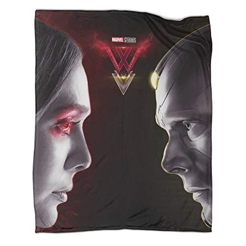 Manta súper suave para decoración Super Hero Wanda Vision patrón impresión suave manta para sofá cama (180 x 230 cm)