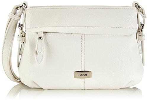 Gabor Umhängetasche Damen Lisa, 26x17x10 cm, Weiß (weiß 12), Gabor Handtasche Damen