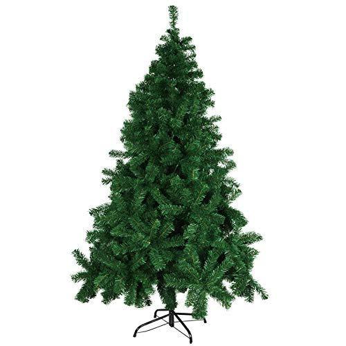 Minterest Albero di Natale, Albero di Natale 180 cm con Base in Metallo for Home Office...