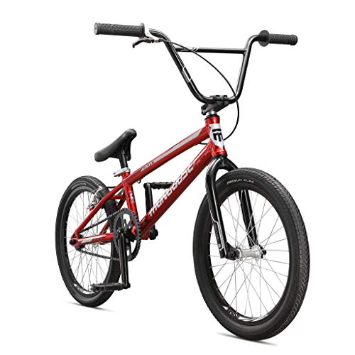 Mongoose Title Pro XXL BMX Race Bike for Beginner to Intermediate Riders, Featuring Lightweight Tectonic T1 Aluminum Frame and Internal Cable Routing with 20-Inch Wheels, Blue