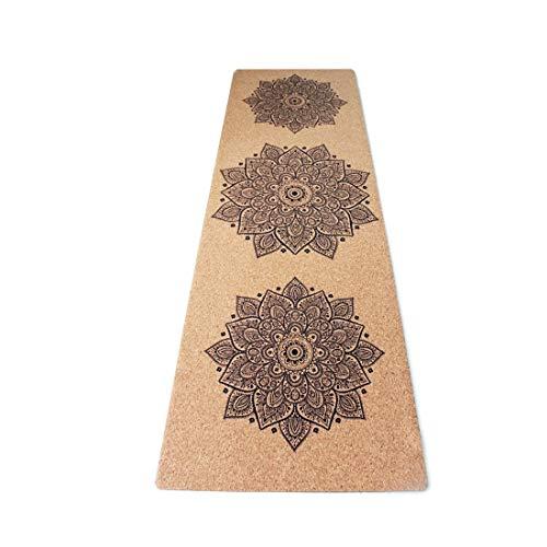 HoneyJuan Gymnastiek- yogamat bedrukt kurk yogamat 0,35 mm niet belastbaar, milieuvriendelijk friendly fitness voor gymnastiek- en vloeroefeningen Fitness Pilates Workout mat