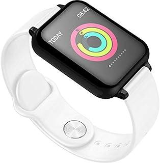 HXHH Pulsera Inteligente de Silicona Bluetooth, Reloj Inteligente multifunción Deportivo Resistente al Agua con frecuencia cardíaca, Compatible con Android e iOS,Blanco