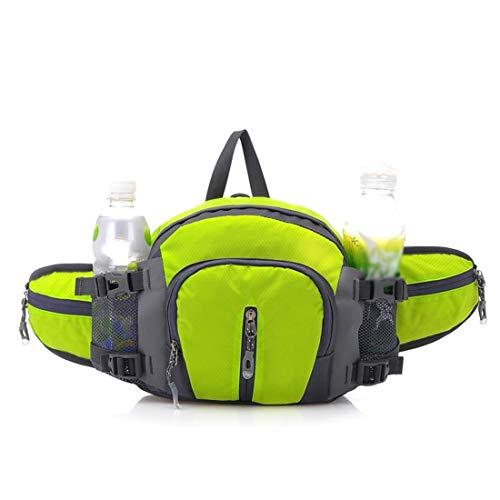 Fusanadarn Outdoor-heuptas met flessenhouder, multifunctionele riemtas, riemtas, waterdichte nylon riemtas voor wandelen, reizen, wandelen, fietsen, hardlopen, outdoor sport
