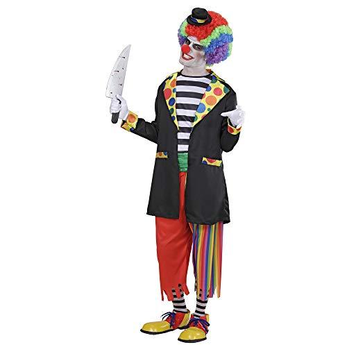 Widmann 97933 - Erwachsenenkostüm Horror Clown, Jacke mit Hemd, Hose, Socken und Hut, Größe L