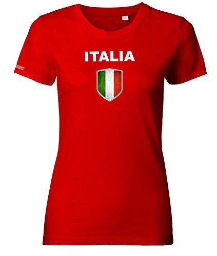 Jayess WM 2018 - Italia Wappen - Italien - Rot - Women T-Shirt by Gr. XL