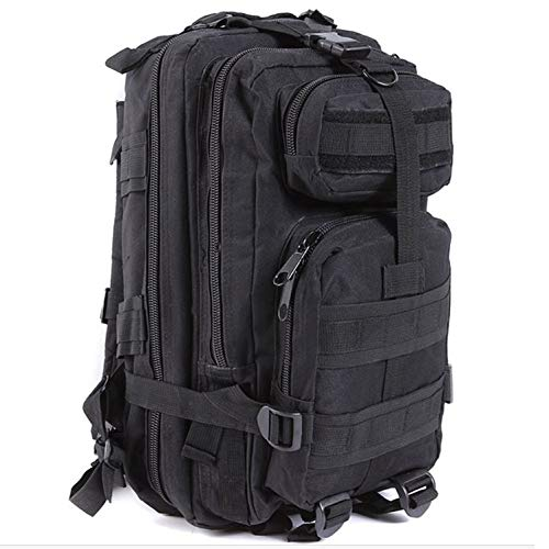 OASIS LAND 30L Outdoor Hiking Camping Bag Climbing Trekking Storage Rucksack Backpack Camo Pack-Black-OneSize