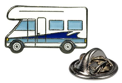 happyROSS Ansteckpin Camper   Anstecker mit Schmetterlingsverschluss   Pin aus Metall mit Emaille   Brosche zum Anstecken an Kleidung, Kragen, Revers, Taschen   Campingplatz, Wohnmobil, Geschenk