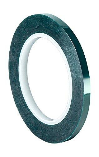 TapeCase 8992 Klebeband aus Polyester/Silikon, 1,9 cm x 2,9 m, Dunkelgrün, aus 3M 8992, 400 Grad F, 182,9 cm Länge, 1,1 cm Breite.