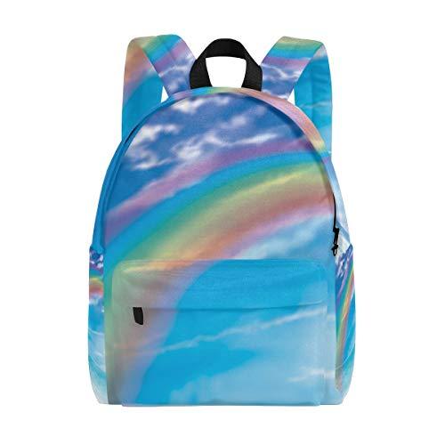 Sac à Dos Mignon Ocean Rainbow Bridge Sac à Dos pour Les garçons et Les Filles Outdoor Casual Daypack