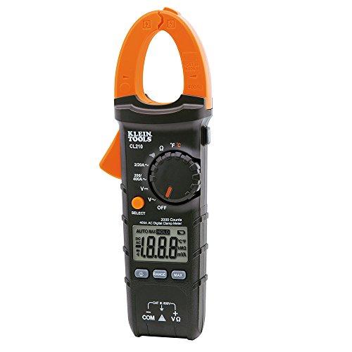 Klein Tools CL210Pinza amperimétrica digital (con ajuste automático de rango