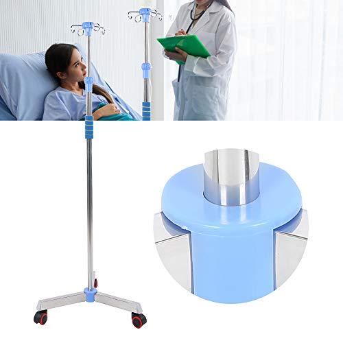 Infusionsständer, abnehmbares Oberteil mit 2 Haken Mehrfachhaken Stabiler und stabiler höhenverstellbarer IV-Mast mit Rädern, für Pflegeheime in gemeinnützigen Einrichtungen
