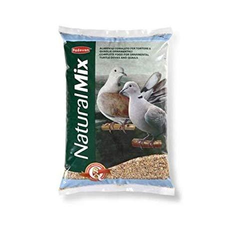 Padovan Naturalmix Tortore - Alimento Completo per tortore e quaglie - Miscela di Cereali - 5 kg