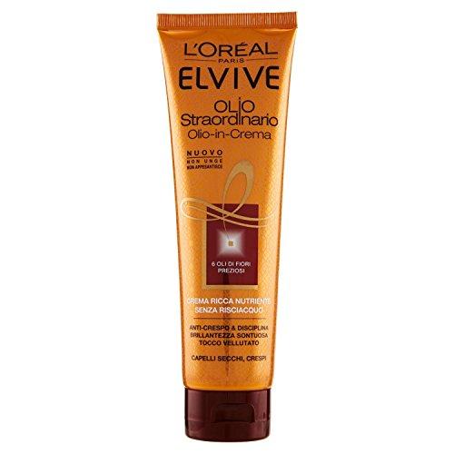 L'Oréal Paris – Elvive – Olio Straordinario – Huile-en-crème nourrissante pour cheveux secs et abimés – 150 ml – Lot de 3