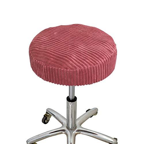 YAYANG Chair Cover Stuhlabdeckung Stretch elastisch Esssitz Plüsch Runde Stuhlabdeckung Massivfarbe Slipcover Bar Hocker Cover für Home Hotel Casual (Color : Red, Specification : 33 33 10cm)