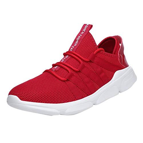 Dasongff Heren Ultralichte sneaker, antislip fitnessschoenen loopschoenen, casual veters Running Shoes textiel schoenen (39-46)