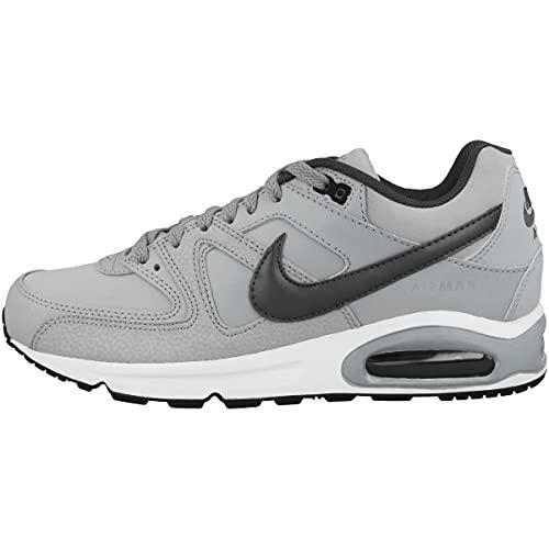 Nike Herren AIR MAX Command Leather Laufschuhe, Grau (Wolf Grey/MTLC Dark Grey/Black/White 012), 47.5 EU