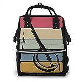 Vintage Banjo Baby Diaper Bag Backpack,Multi-Function Waterproof Large Capacity Travel Nappy Bags For Mom