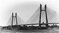 DIY 11CT クロスステッチキットスタンプ済み刺繍スターターキット初心者向け 海の橋の風景 カウントクロスステッチキット コットンクロスステッチキット クロスステッチ 16×20インチ