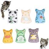 Pet Soft Catnip Cat Toys – Interactive Small Catnip Kicker Toys for Indoor Cats, Stuffed Catnip Teething Toys for Kitten 6 Pcs