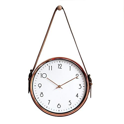 DEF Reloj de Pared con cinturón Creativo Reloj de Pared Minimalista Moderno, Silencio sin garrapatas Sala de Estar Dormitorio Estudio Decoración de Arte para el hogar (tamaño : Gold-12in)