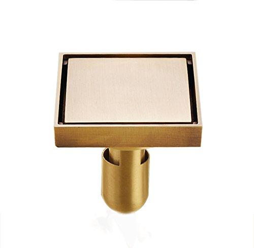 DGF Drain de plancher, drain de plancher de salle de bains de toilette de désodorisant de cuivre 100mm * 100mm ( Couleur : A )