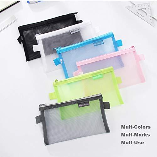 "Zipper Pouch, 4 PCS, Mesh Zipper Bags Clear Zipper Pouch Small Organizer Bag Zipper Folder Bag Cosmetic Bags Travel Storage Bags, Size: 7.8""×4.8"", 4 Bags/Package, Colour Random"