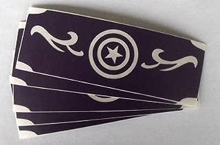 BODY GLITTER TATTOO 5x stencil captain america tribal neat glitter tattoo airbrush facepaint