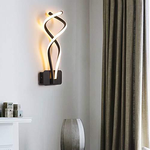 DAXGD Lámparas de pared modernas, 3500K aplique de pared LED de 16 W AC96 V-260 V para la decoración de la mesita de noche del dormitorio del salón