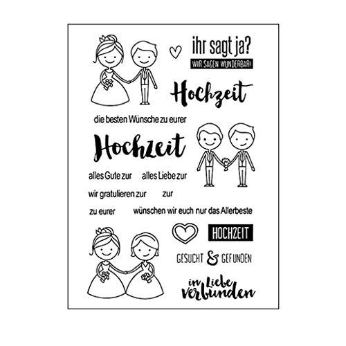Ycncixwd Silikon-Stempel für Hochzeit, Hochzeit, DIY