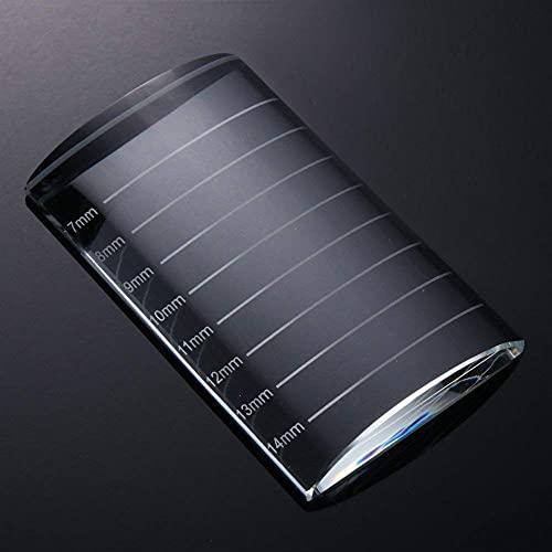 Eyelash Extension Crystal Glass Eye Lash Stand Pallet Holder/Lash Tray Strip Pallet / 2PCS (Groove)