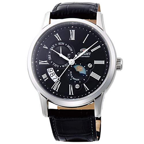 Orient Herren Analog Automatik Uhr mit Leder Armband FAK00004B0